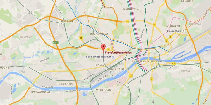 Cartina Francoforte